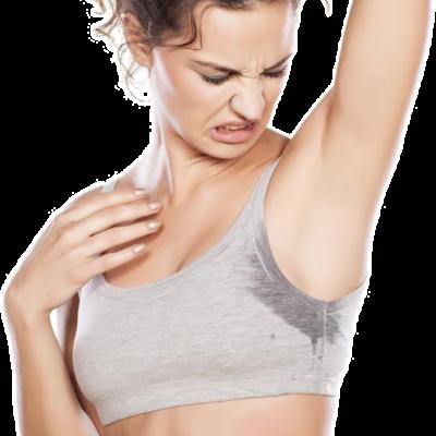 Svettering før MiraDry permanent svettebehandling